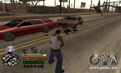 C-HUD СМИ PARA SIEMPRE para GTA San Andreas sucesivamente de pantalla