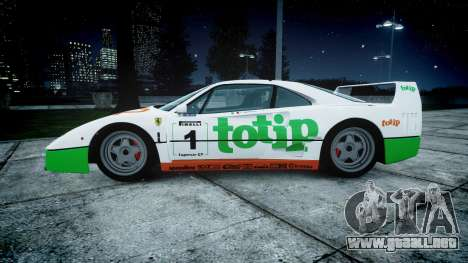 Ferrari F40 1987 [EPM] Jolly Club para GTA 4 left