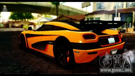 Koenigsegg One:1 v2 para GTA San Andreas left