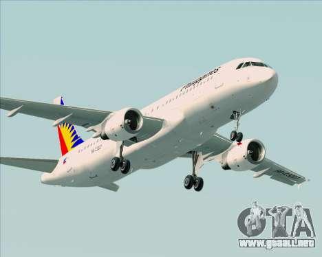 Airbus A320-200 Philippines Airlines para el motor de GTA San Andreas