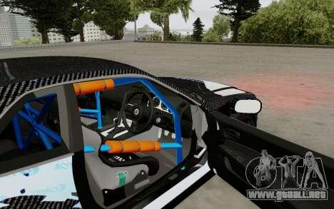 Nissan Skyline GT-R 34 Toyo Tires para GTA San Andreas vista hacia atrás