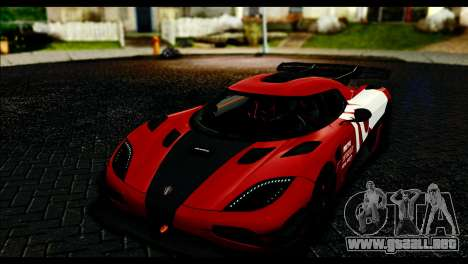 Koenigsegg One:1 v2 para la vista superior GTA San Andreas