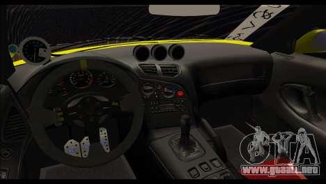 Mazda RX-7 Drift para GTA San Andreas vista posterior izquierda