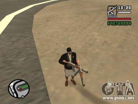 Doble propiedad de todas las armas para GTA San Andreas segunda pantalla