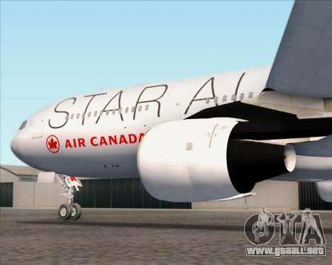 Airbus A330-300 Air Canada Star Alliance Livery para las ruedas de GTA San Andreas