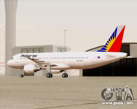 Airbus A320-200 Philippines Airlines para vista lateral GTA San Andreas