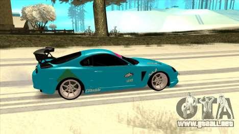 Toyota Supra Blue Lightning para GTA San Andreas vista posterior izquierda