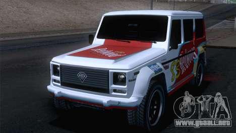 GTA 5 Benefactor Dubsta IVF para la vista superior GTA San Andreas