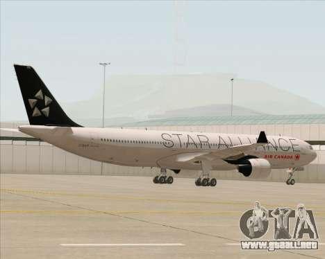 Airbus A330-300 Air Canada Star Alliance Livery para visión interna GTA San Andreas