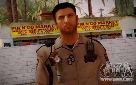 Alex Shepherd From Silent Hill Police para GTA San Andreas tercera pantalla