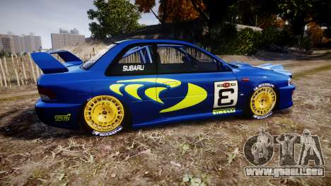 Subaru Impreza WRC 1998 v4.0 World Rally para GTA 4 left