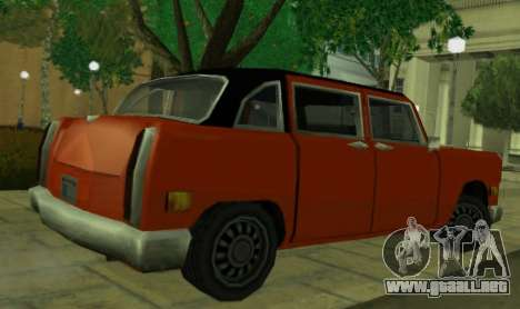 Cabbie Restyle para GTA San Andreas vista posterior izquierda