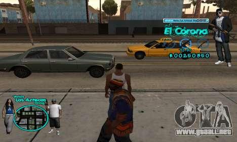 C-HUD Aztec El Corona para GTA San Andreas segunda pantalla