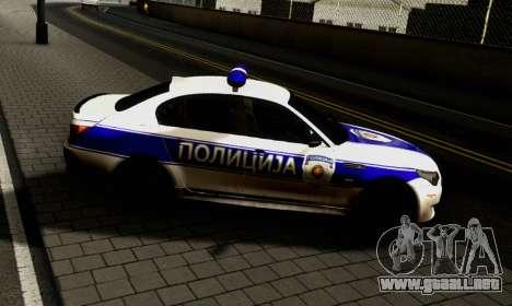 BMW M5 E60 POLICIJA para GTA San Andreas left