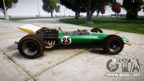Lotus Type 49 1967 [RIV] PJ25-26 para GTA 4 left