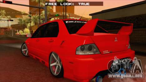 Mitsubishi Lancer Evolution VIII MR para GTA San Andreas left