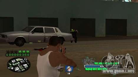 C-HUD Smoke Weed para GTA San Andreas sexta pantalla