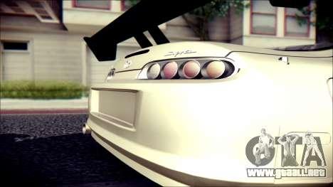 Toyota Supra Street Edition para GTA San Andreas vista posterior izquierda