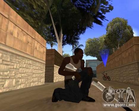 Clear weapon pack para GTA San Andreas sucesivamente de pantalla