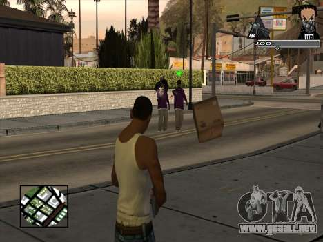 Marusya C-HUD para GTA San Andreas segunda pantalla