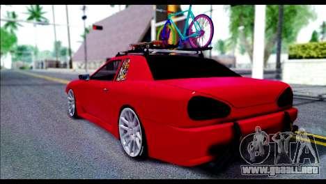 Elegy Slammed para GTA San Andreas vista posterior izquierda