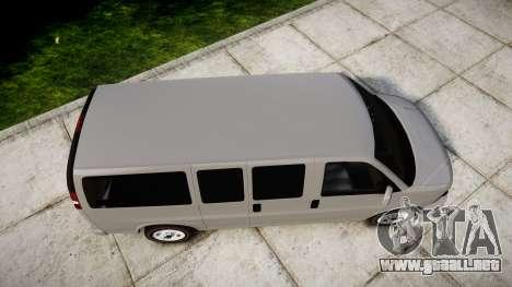 Chevrolet Express 2013 NYPD [ELS] unmarked para GTA 4 visión correcta