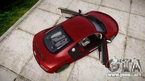 Audi R8 V10 Plus 2014 para GTA 4 visión correcta