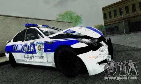 BMW M5 E60 POLICIJA para la visión correcta GTA San Andreas