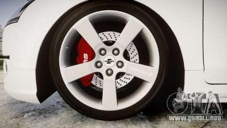 Audi TT RS 2010 para GTA 4 vista hacia atrás