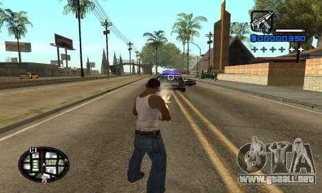 Samaro C-HUD para GTA San Andreas tercera pantalla