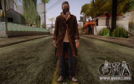 Aiden Pearce from Watch Dogs v5 para GTA San Andreas