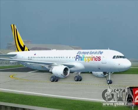 Airbus A320-200 Tigerair Philippines para la vista superior GTA San Andreas