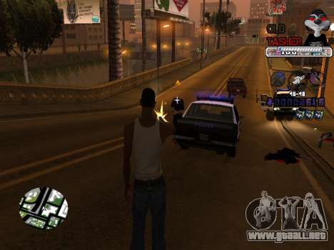 C-HUD Cesar Weezy para GTA San Andreas quinta pantalla