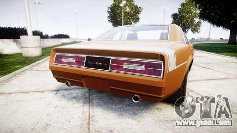 Declasse Tampa 1976 v2.0 para GTA 4 Vista posterior izquierda