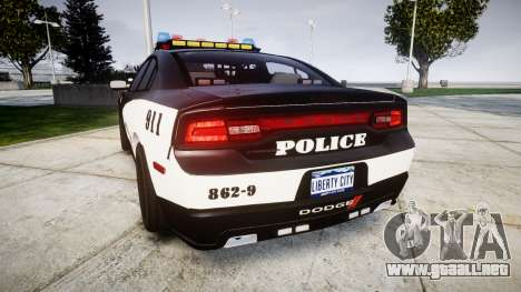 Dodge Charger STR8 LCPD [ELS] para GTA 4 Vista posterior izquierda