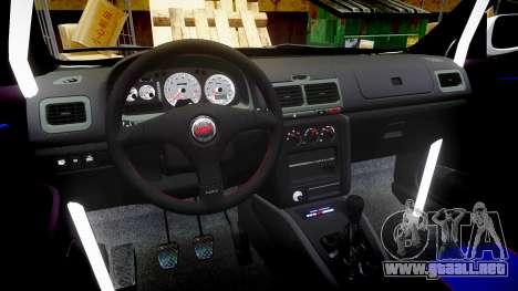 Subaru Impreza WRC 1998 v4.0 SA Competio para GTA 4 vista hacia atrás