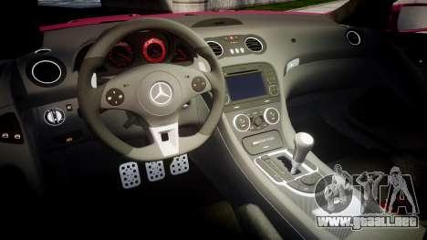 Mersedes-Benz SL65 AMG 2009 para GTA 4 vista interior