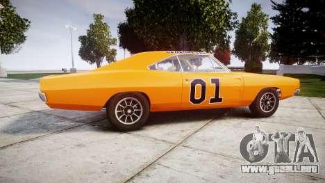Dodge Charger RT 1969 General Lee para GTA 4 left