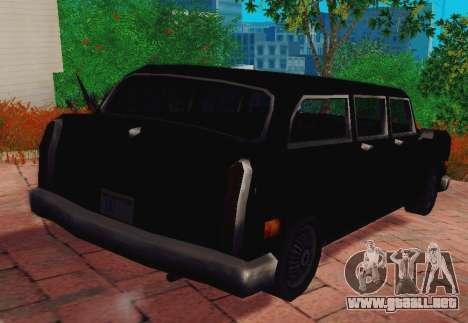 Cabbie Wagon para GTA San Andreas vista posterior izquierda