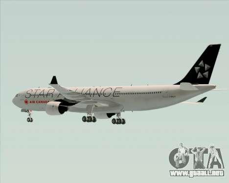 Airbus A330-300 Air Canada Star Alliance Livery para vista inferior GTA San Andreas