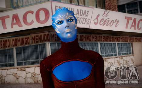 Asari Dancer from Mass Effect para GTA San Andreas tercera pantalla