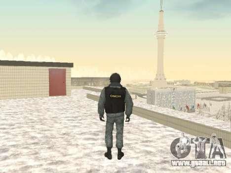 OMON MVD DE LA FEDERACIÓN DE RUSIA para GTA San Andreas tercera pantalla