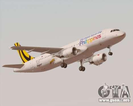 Airbus A320-200 Tigerair Philippines para GTA San Andreas interior