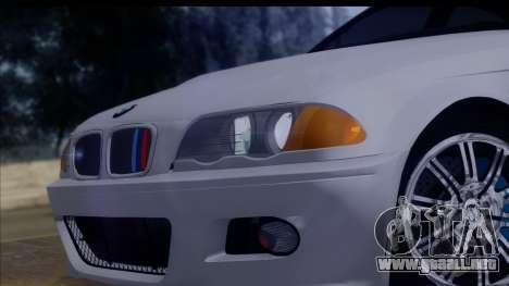 BMW M3 E46 Sedan para la visión correcta GTA San Andreas