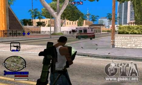 C-HUD Normal para GTA San Andreas sucesivamente de pantalla