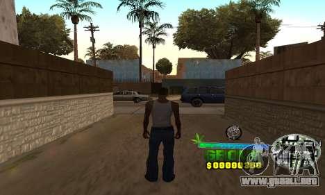 C-HUD Groove Street para GTA San Andreas sucesivamente de pantalla