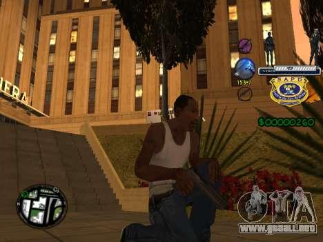 C-HUD Police S.A.P.D para GTA San Andreas tercera pantalla