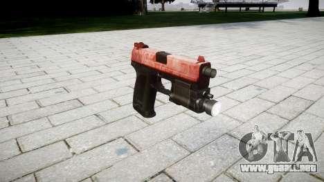 La pistola HK USP 45 rojo para GTA 4