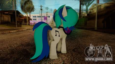 Vinyl Scratch from My Little Pony para GTA San Andreas segunda pantalla