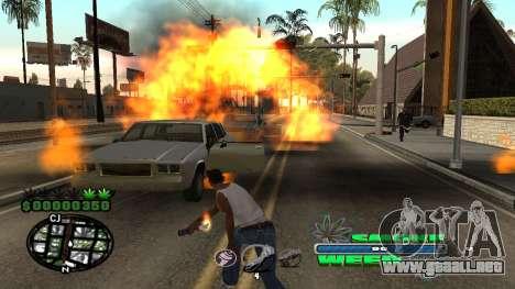 C-HUD Smoke Weed para GTA San Andreas quinta pantalla